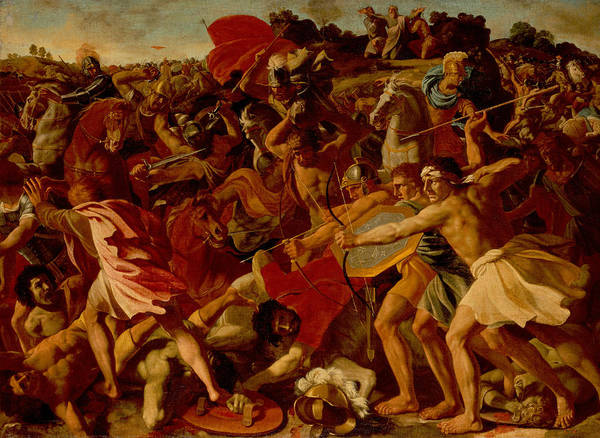 Painting - The Victory Of Joshua Over The Amalekites by Nicolas Poussin