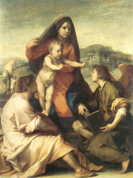 Painting - The Virgin And Child by Andrea Del Sarto