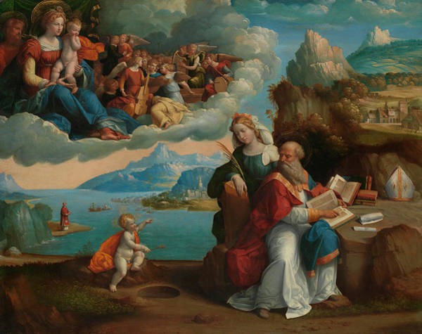 Curiosity Painting - The Vision Of Saint Augustine by Garofalo