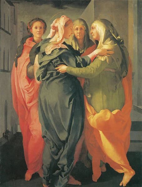 Painting - The Visitation by Jacopo Da Pontormo
