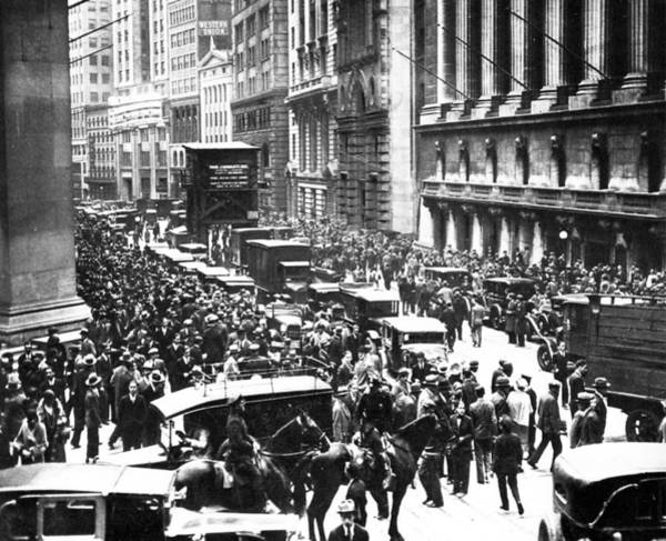 Financial Crisis Photograph - The Wall Street Crash 1929 by American School