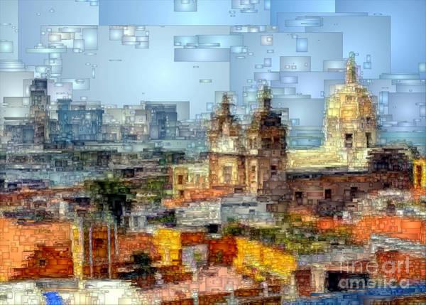 Digital Art - The Walled City In Cartagena De Indias Colombia by Rafael Salazar