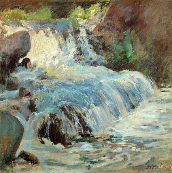Photograph - The Waterfall by John Henry Twachtman
