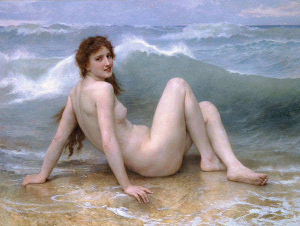 Painting - The Wave by William-Adolphe Bouguereau