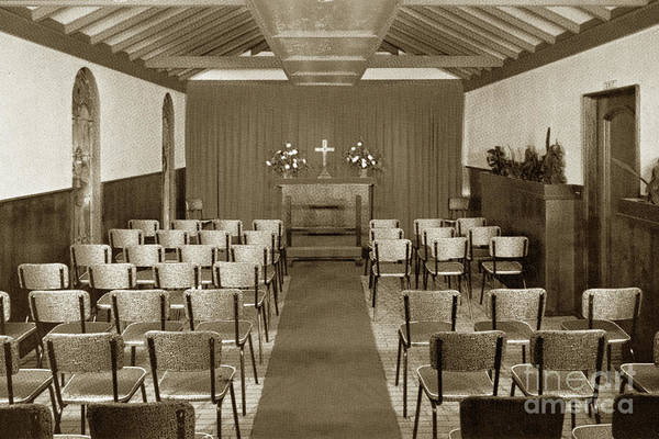 Photograph - The Wedding Chapel Highlands Inn Circa 1968 by California Views Archives Mr Pat Hathaway Archives