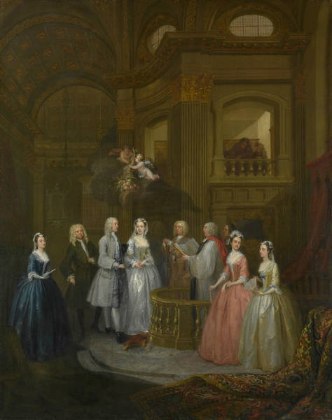 Painting - The Wedding Of Stephen Beckingham And Mary Cox by William Hogarth