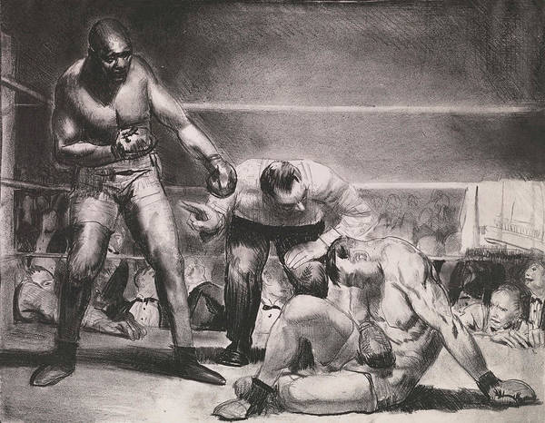 Boxing Painting - The White Hope by George Bellows