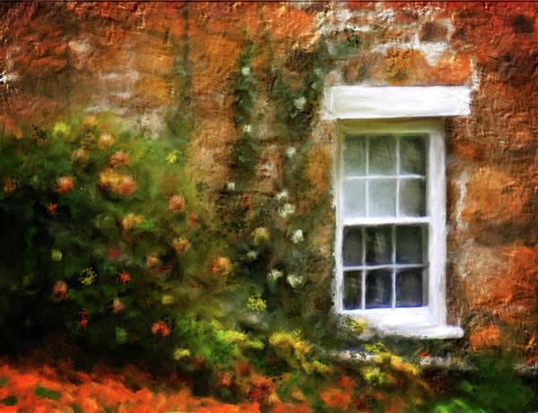 Shrub Mixed Media - The Window by Mary Timman