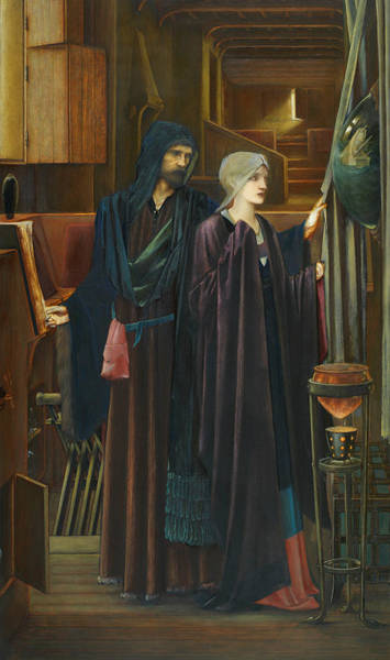 Painting - The Wizard by Edward Burne-Jones