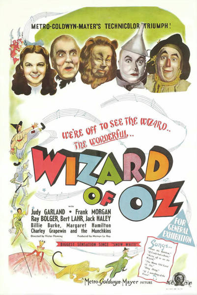 Wall Art - Mixed Media - The Wizard Of Oz 1939 by Mountain Dreams