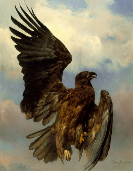 Wall Art - Painting -  The Wounded Eagle by Rosa Bonheur