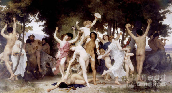 Deities Painting - The Youth Of Bacchus by William-Adolphe Bouguereau