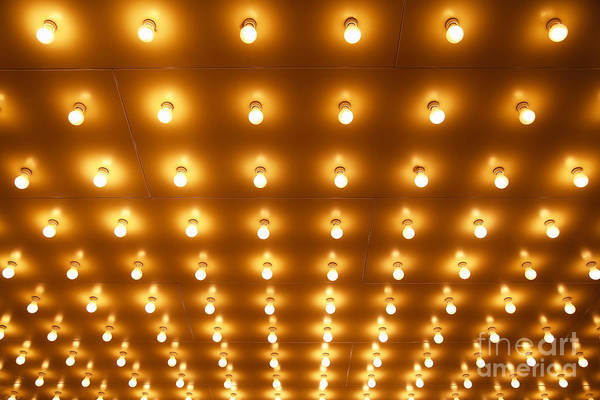 Wall Art - Photograph - Theater Lights In Rows by Paul Velgos