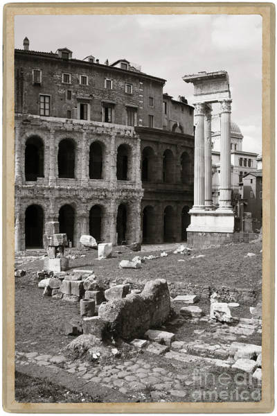 Wall Art - Photograph - Theatre Of Marcellus Black And White by Stefano Senise