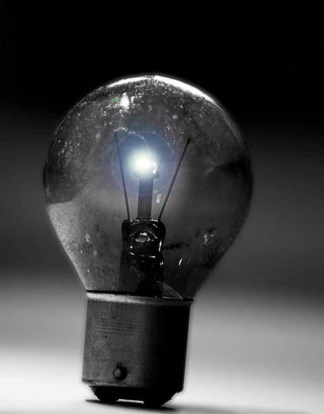 Thinking Bulb Art Print