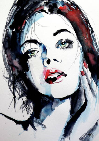 Mood Painting - Thinking Of You by Kovacs Anna Brigitta