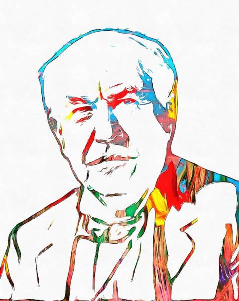 Experiment Painting - Thomas Edison  by Dan Sproul