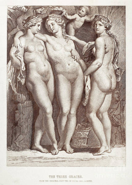 Putto Photograph - Three Graces by Granger