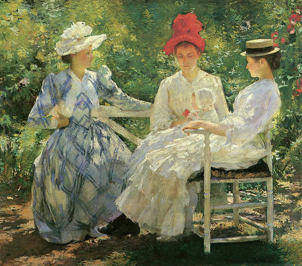 Photograph - Three Sisters A Study In June Sunlight by Edmund Charles Tarbell