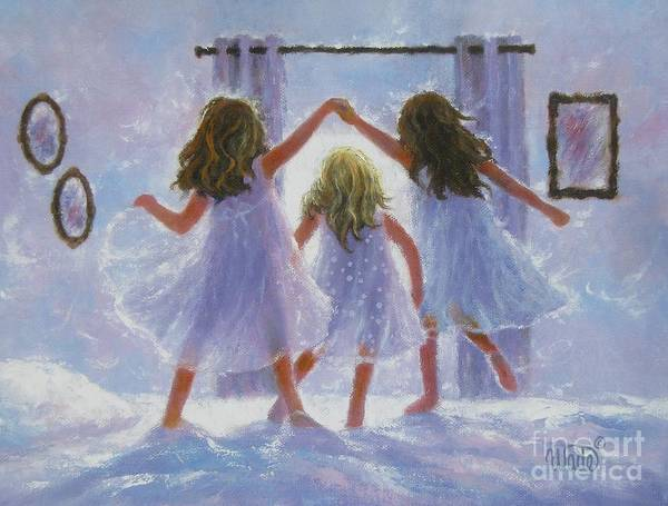 Wall Art - Painting - Three Sisters London Bridges by Vickie Wade