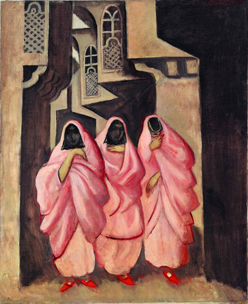 Baghdad Painting - Three Women On The Street Of Baghdad by Jazeps Grosvalds