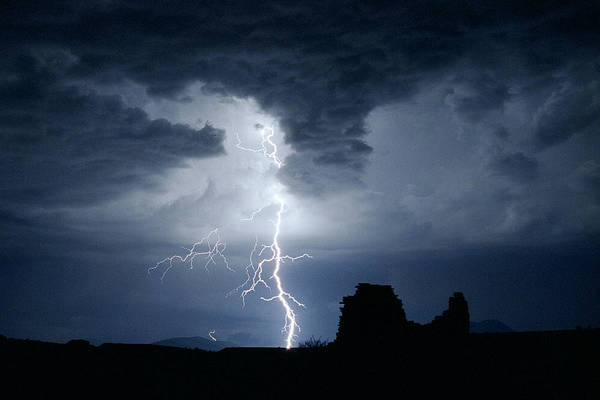 Photograph - Thundering Ruin by Michael Smith-Sardior
