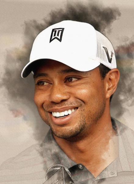 Lpga Digital Art - Tiger Woods by Don Kuing