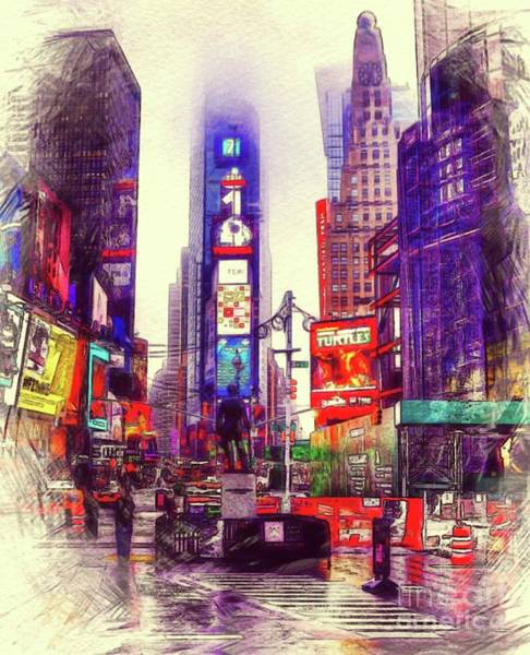 Time Square Painting - Times Square, New York City by Sarah Kirk