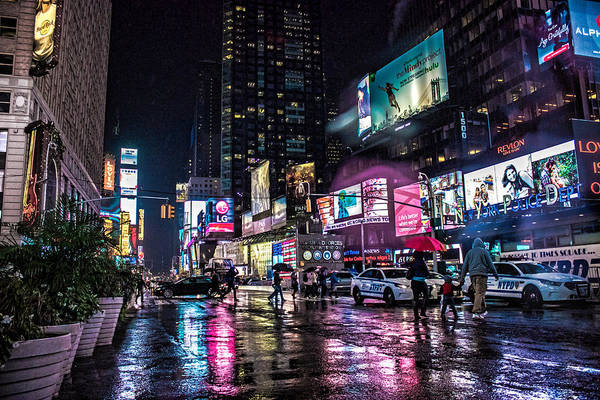 Cops Photograph - Times Square Nyc by Martin Newman