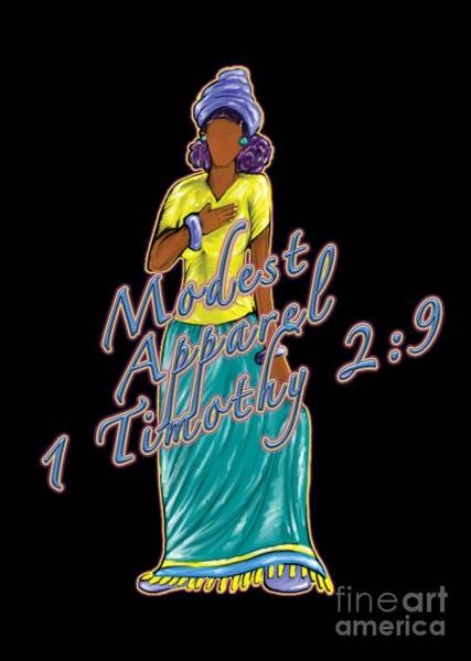 Digital Art - 1 Timothy 2vs.9 Modest Apparel by Robert Watson
