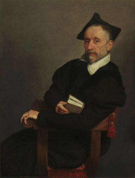 Painting - Titian's Schoolmaster by Giovanni Battista Moroni