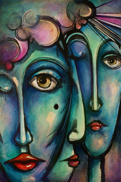 Wall Art - Painting - Together by Michael Lang