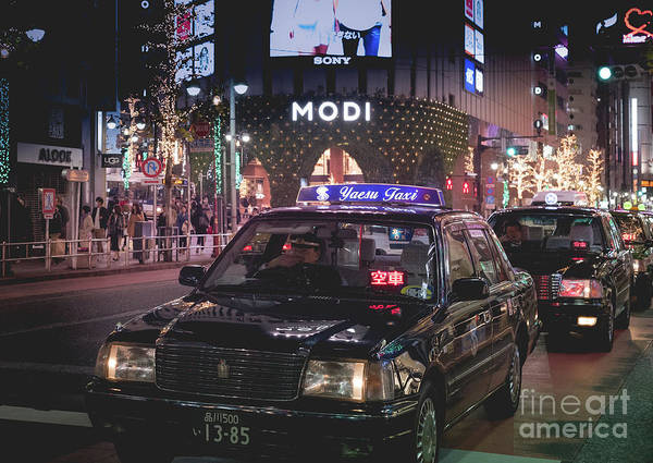 Art Print featuring the photograph Tokyo Taxis, Japan by Perry Rodriguez