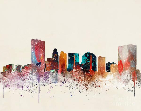 Wall Art - Painting - Toledo Skyline  by Bri Buckley