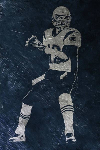 Wall Art - Painting - Tom Brady Patriots 2 by Joe Hamilton