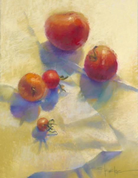Tomato Blues Art Print by Cathy Locke