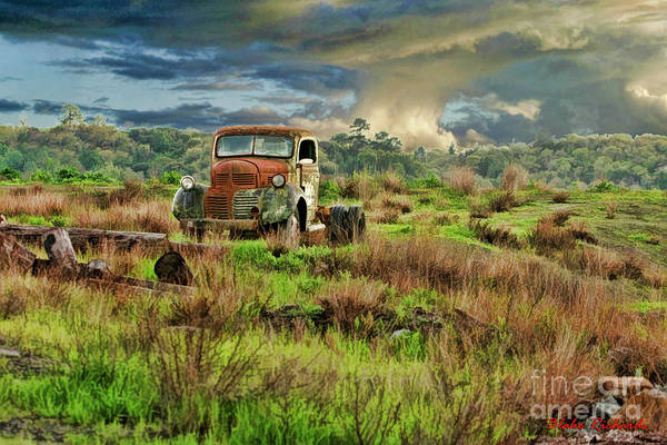 Tornado Truck Art Print