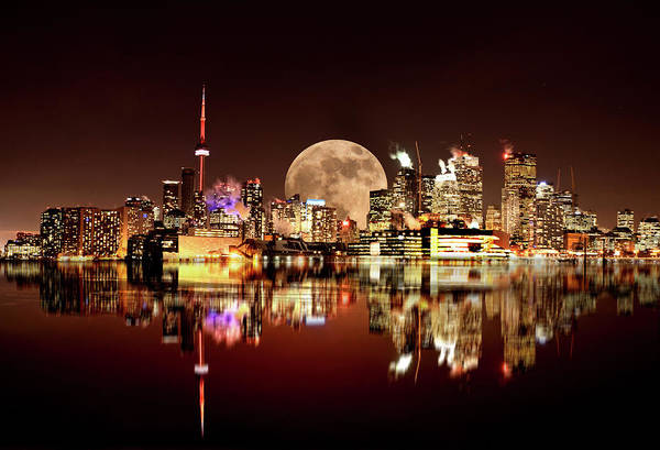 Wall Art - Photograph - Toronto City Night by Mark Duffy