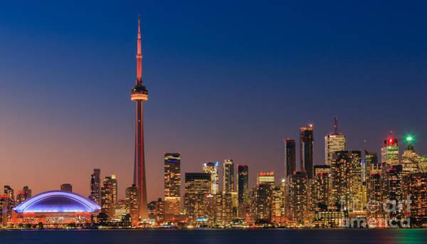 Meijer Wall Art - Photograph - Toronto Skyline After Sunset by Henk Meijer Photography