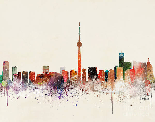 Wall Art - Painting - Toronto Skyline by Bri Buckley