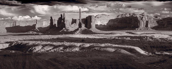 Wall Art - Photograph - Totem Pole And Yei Bi Chei Monument Valley by Steve Gadomski