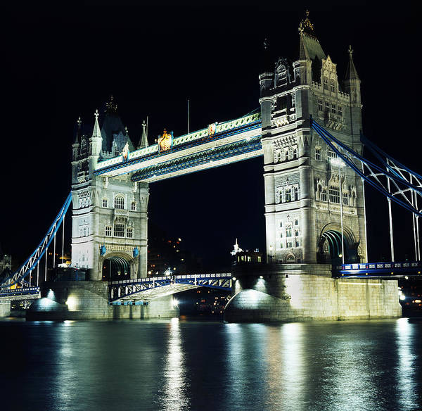 Wall Art - Photograph - Tower Bridge In London, England by Maggie McCall