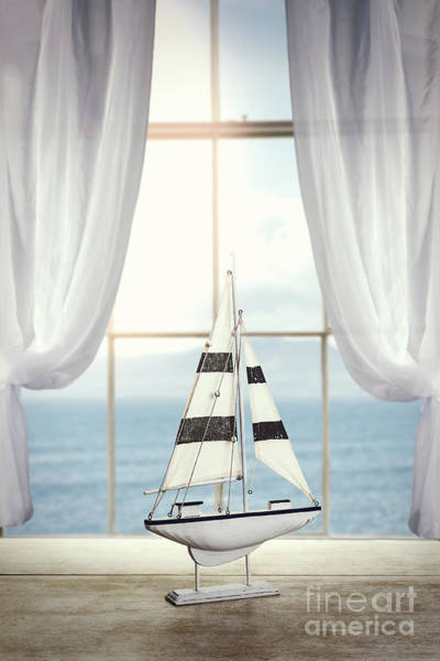 Wall Art - Photograph - Toy Boat In Window by Amanda Elwell