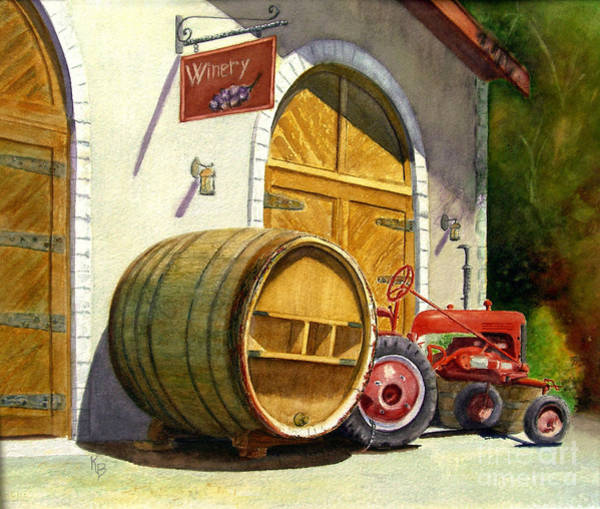 Wall Art - Painting - Tractor Pull by Karen Fleschler