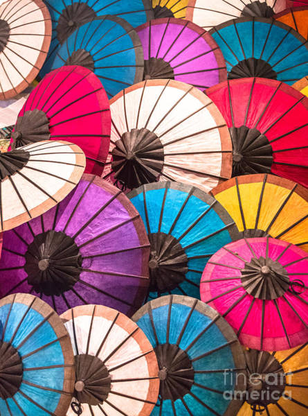 Photograph - Traditional Umbrella In Laos by Didier Marti