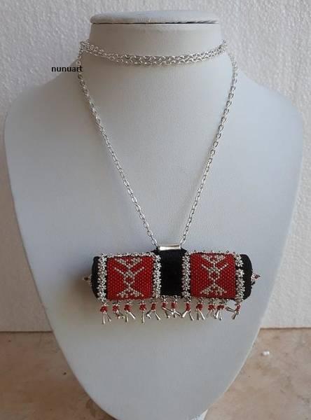 Wall Art - Jewelry - Traditional Yemenite Prayer Boxes Necklace by Nurit Tzubery