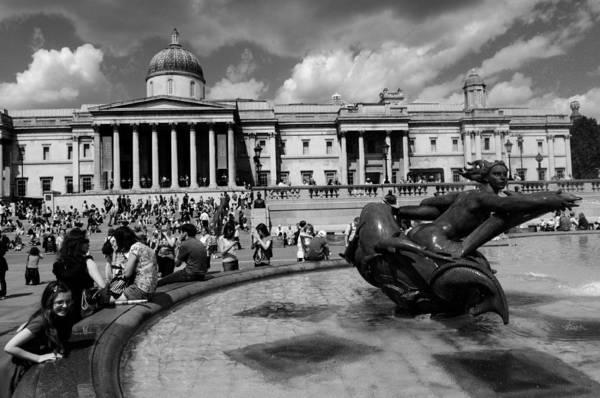 Wall Art - Photograph - Trafalgar Square by Liz Pinchen