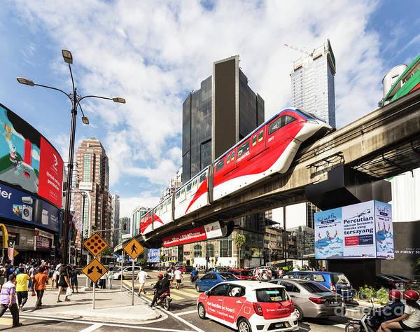 Photograph - Traffic In Bukit Bintang In The Heart Of Kuala Lumpur, Malaysia  by Didier Marti