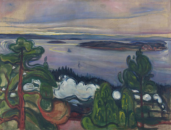 Norwegian Painting - Train Smoke by Edvard Munch