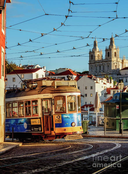 Carris Photograph - Tram Number 28 In Alfama, Lisbon, Portugal by Karol Kozlowski